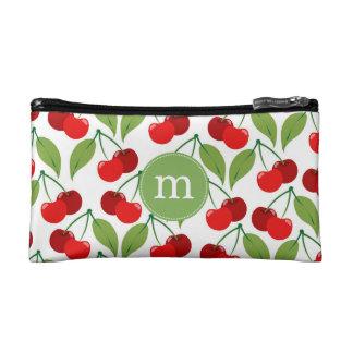 Retro Cherries Monogrammed Makeup Bag