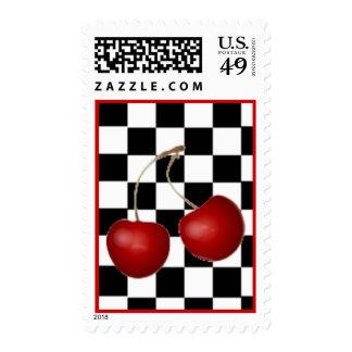 Retro Cherries Postage