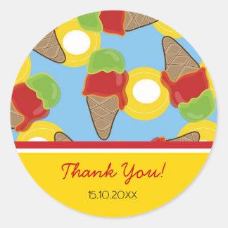 Retro Cherry and Lime Ice Cream Gift / Favor / TQ Classic Round Sticker