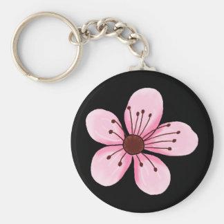 Retro Cherry Blossom Key Chain