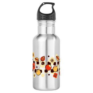 Retro Cherry Checkers Stainless Steel Water Bottle