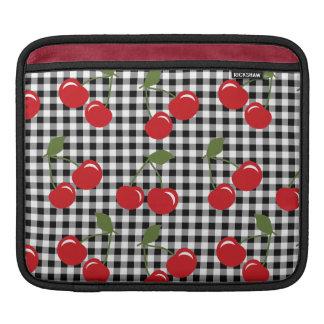 Retro Cherry Gingham Sleeve For iPads