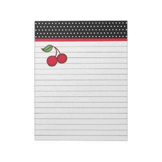 Retro Cherry Notepad