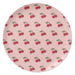 Retro Cherry Plate