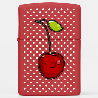 Retro Cherry Red Zippo Lighter