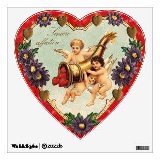 Retro Cherubs Valentine Heart Room Graphic