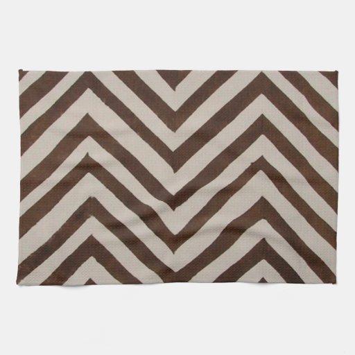 Http Zazzle Com Retro Chevron Brown Towel Kitchen Home Decor 197196828134342319