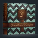 """Retro Chevron Monogram Recipe #11 3 Ring Binder<br><div class=""""desc"""">Retro Chevron Monogram Recipe. Please Select Customize. Remove or change Information prior to purchase. Design is available on other products.</div>"""