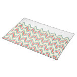 Retro chevron pattern cloth placemat