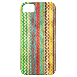 Retro Chevron Pattern Wooden iPhone SE/5/5s Case