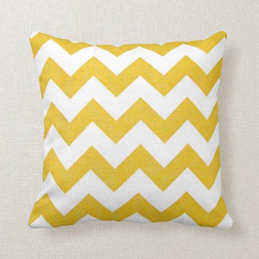 Retro Chevron Yellow Throw Pillow Home Decor Zazzle