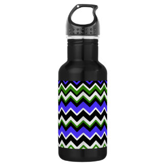 Retro Chevron Zig Zag/Zigzag Pattern Water Bottle