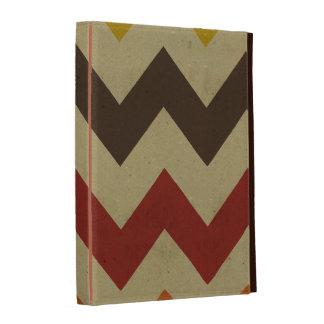 Retro chevron zigzag stripes zig zag pattern chic iPad folio case