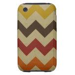 Retro chevron zigzag stripes zig zag pattern chic tough iPhone 3 covers
