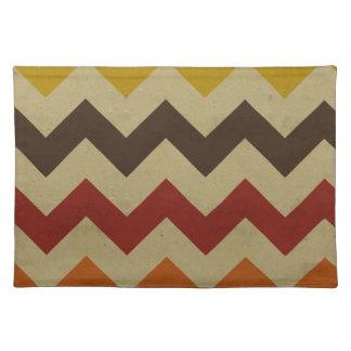 Retro chevron zigzag stripes zig zag pattern chic cloth placemat