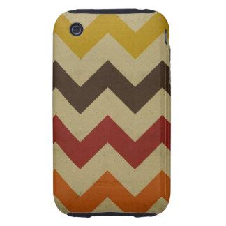 Retro chevron zigzag stripes zig zag pattern chic iPhone 3 tough case