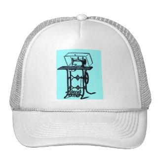 Retro Chic Antique Sewing Machine design Trucker Hats