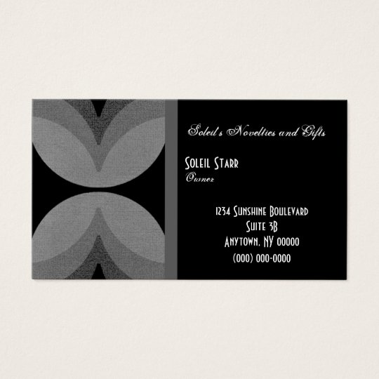 Retro Chic Business Card, Gray Business Card
