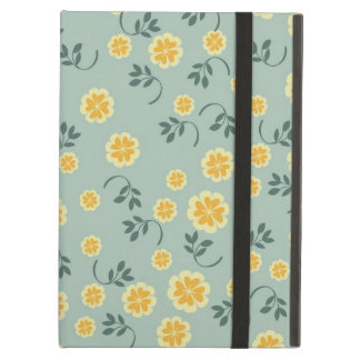 Retro chic buttercup floral flower girly pattern iPad covers