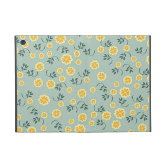 Retro chic buttercup floral flower girly pattern iPad mini covers