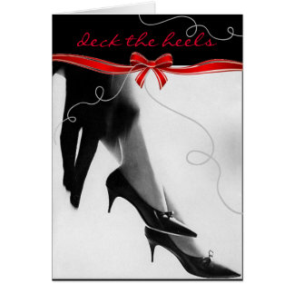 Retro Chic Deck the Heels Holiday Card