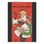 Retro Chic Holiday Wishes Card