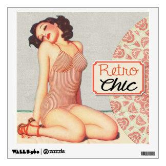 Retro Chic Pin Up Girl Wall Sticker