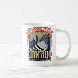 Retro Chicago Pigeon Classic White Coffee Mug