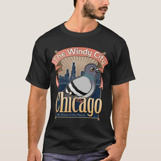 Retro Chicago Pigeon T-Shirt