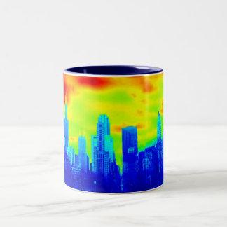 Retro Chicago Skyline Mug