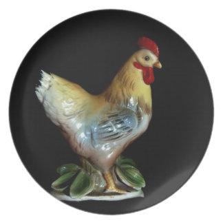 Retro Chicken Dinner Plate