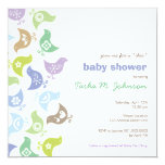 Retro Chicks Boy Baby Shower Party Invitation Invitation