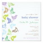 Retro Chicks Boy Baby Shower Party Invitation