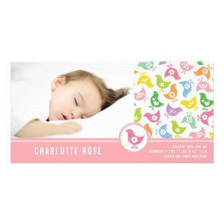 Retro Chicks Girl Birth Announcement Photo Card