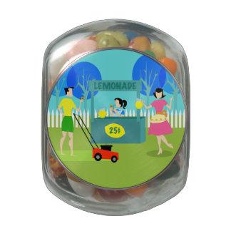 Retro Children's Lemonade Stand Candy Jar Jelly Belly Candy Jar