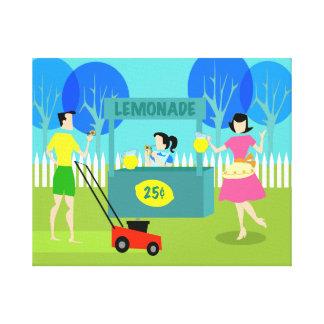 Retro Children's Lemonade Stand Canvas Print