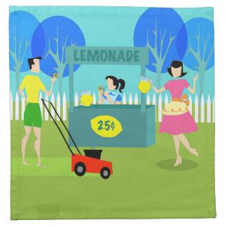 Retro Children's Lemonade Stand Cloth Napkins
