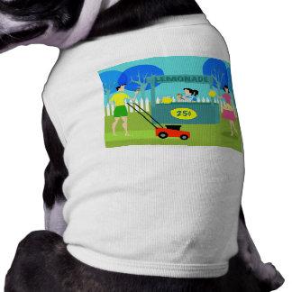 Retro Children's Lemonade Stand Dog T-Shirt