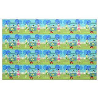 Retro Children's Lemonade Stand Fabric