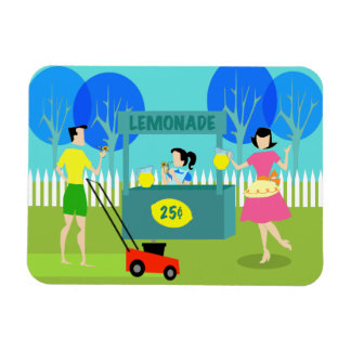 Retro Children's Lemonade Stand Flexible Magnet