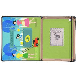 Retro Children's Lemonade Stand iPad Case