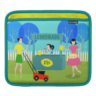 Retro Children's Lemonade Stand iPad Sleeve