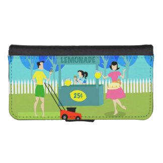 Retro Children's Lemonade Stand iPhone Wallet Case