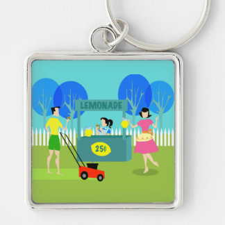 Retro Children's Lemonade Stand Keychain