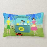 Retro Children's Lemonade Stand Lumbar Pillow