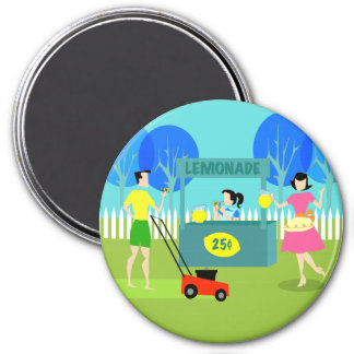 Retro Children's Lemonade Stand Magnet