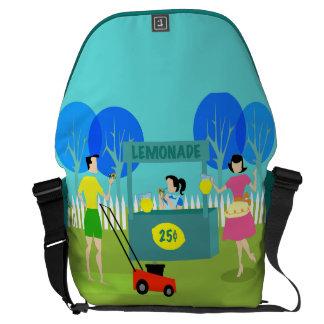 Retro Children's Lemonade Stand Messenger Bag