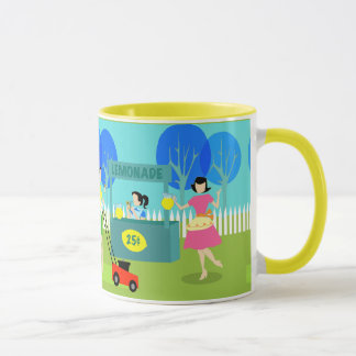 Retro Children's Lemonade Stand Mug