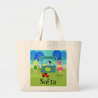 Retro Children's Lemonade Stand Tote Bag