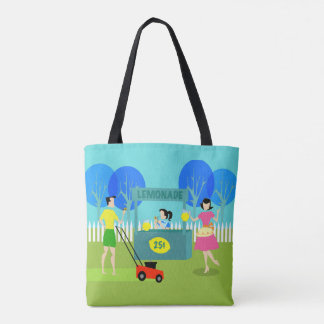Retro Children's Lemonade Stand Tote Bag